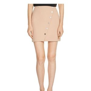 Maje natural beige Justine Snap-Button Mini skirt